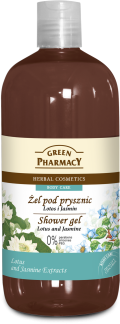 Green Pharmacy shower gel LOTUS and JASMINE xhel dushi lotus jasmine